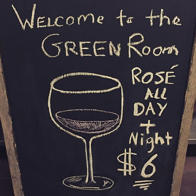 Rose all day!!! & night $6!!! #rosèallday #quiche #getoninhere