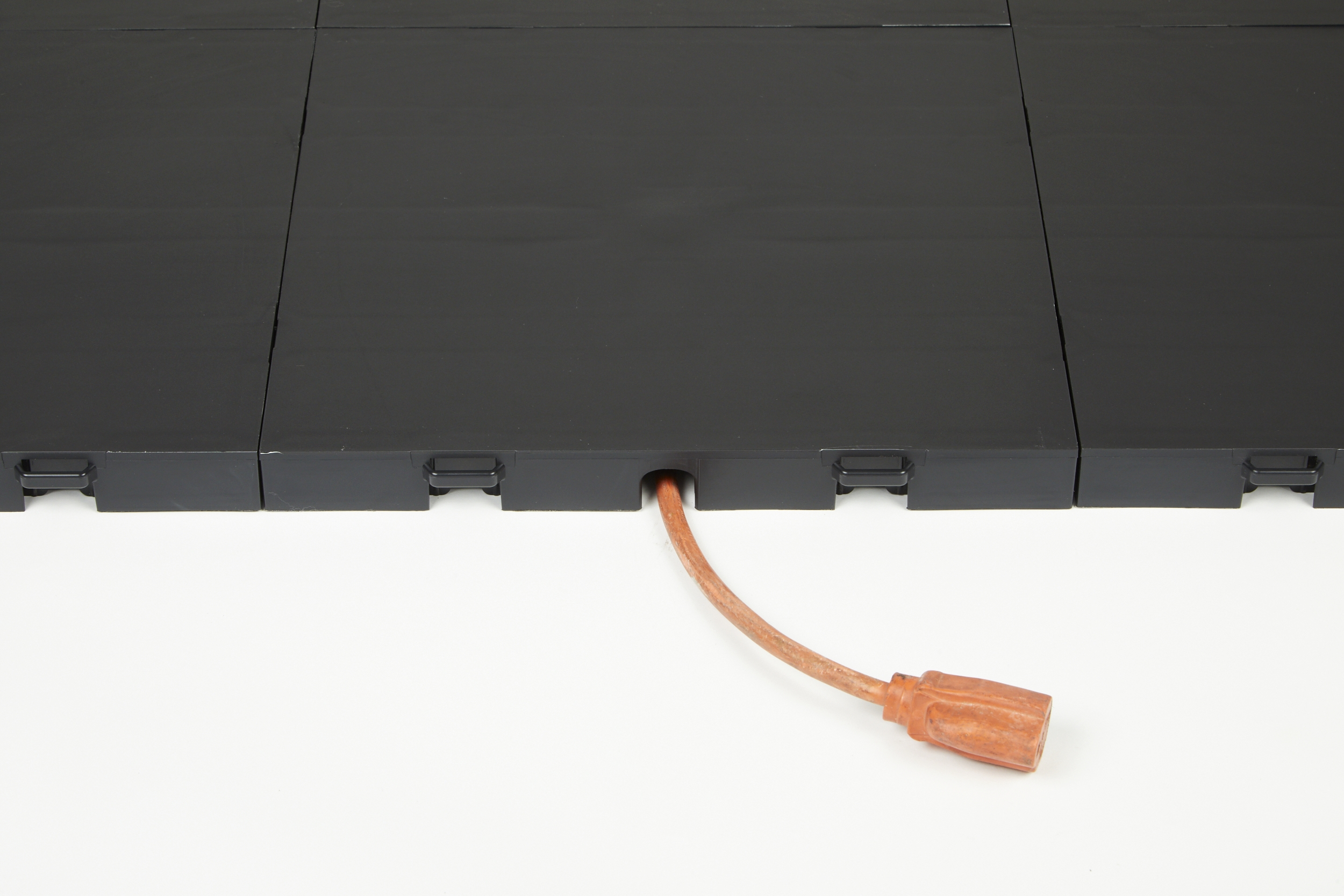 Run power and networking cables under your floor.