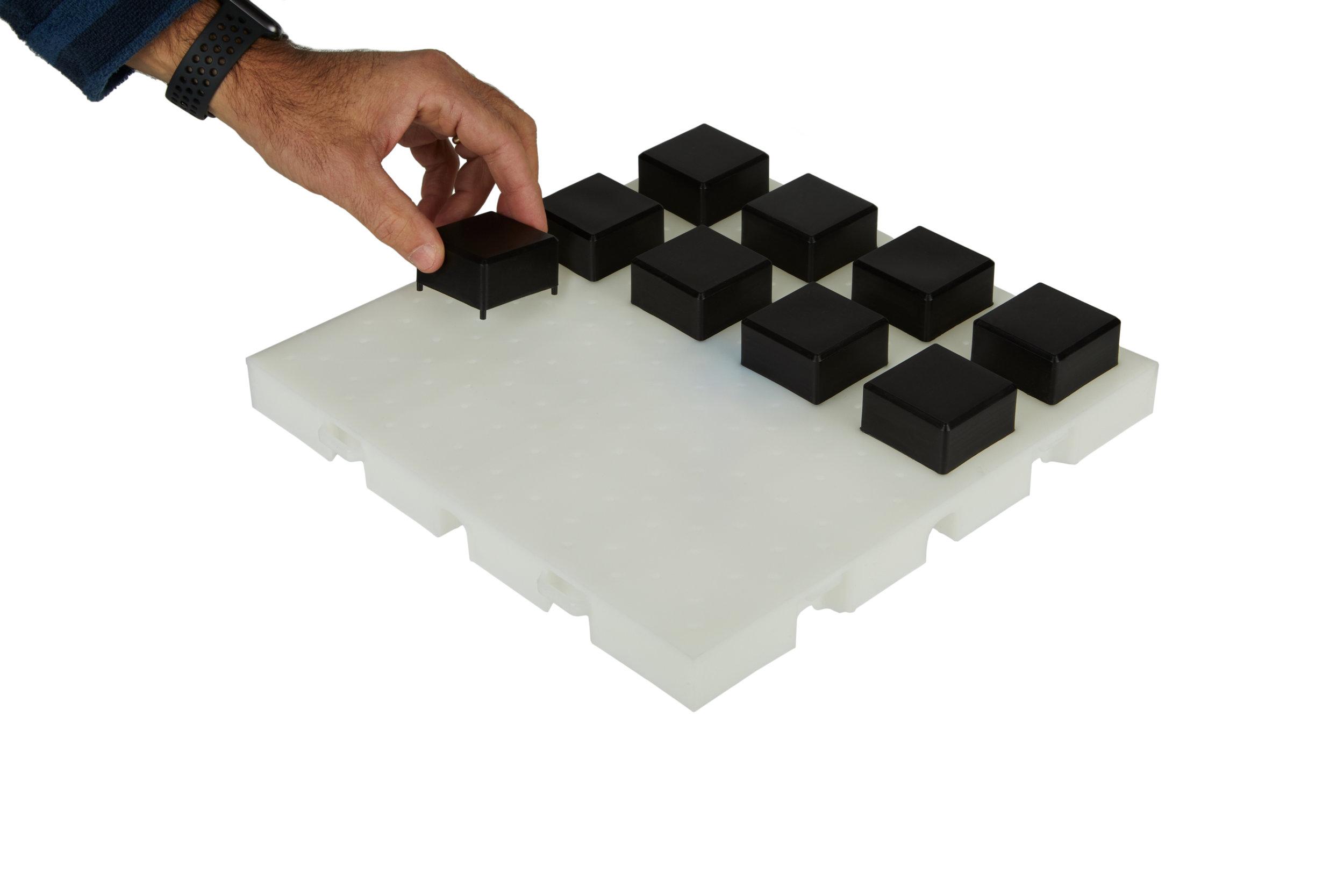 Inserting lugs for EverBlock Flooring