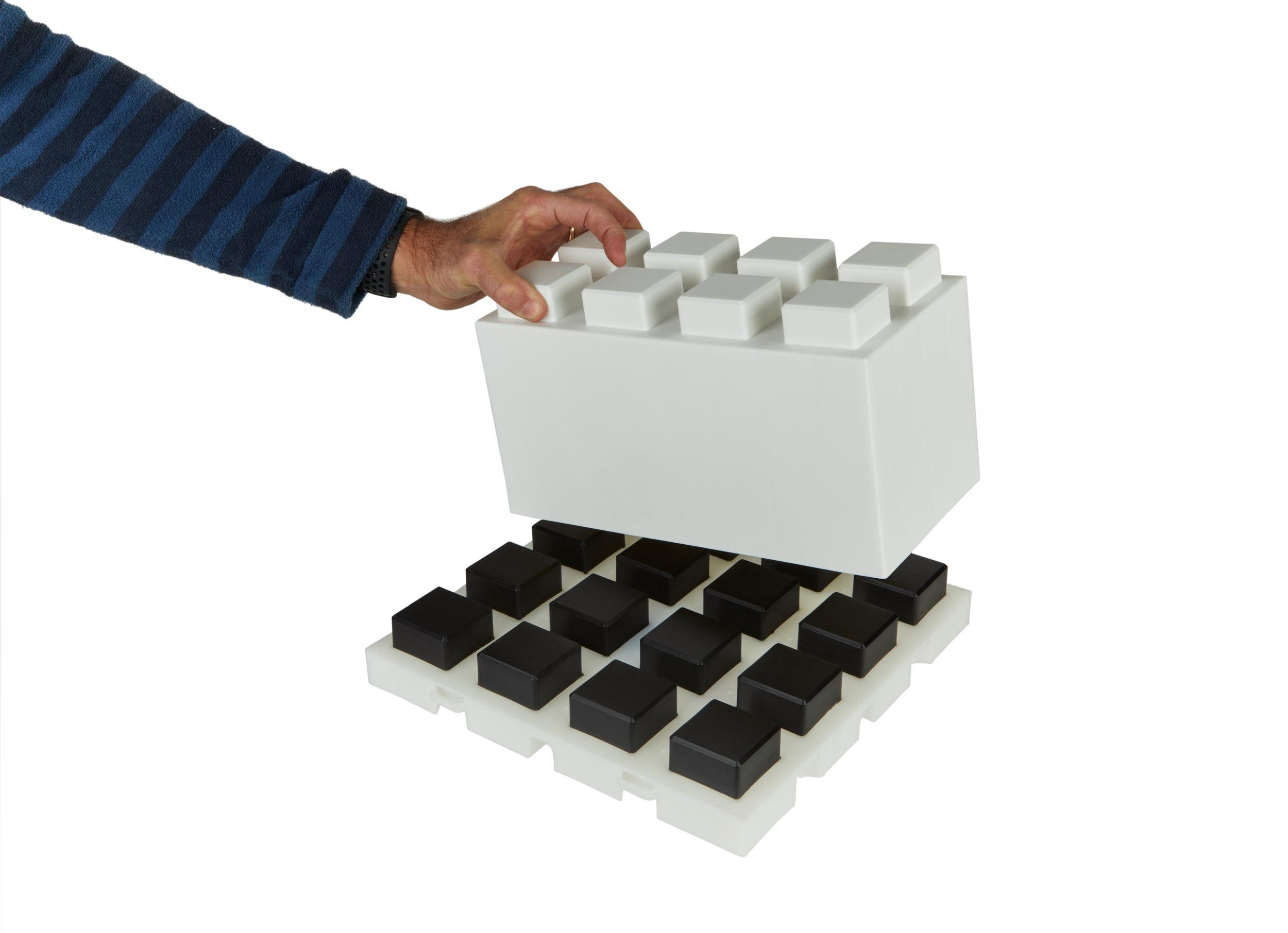 Attaching block to EverBlock Flooring