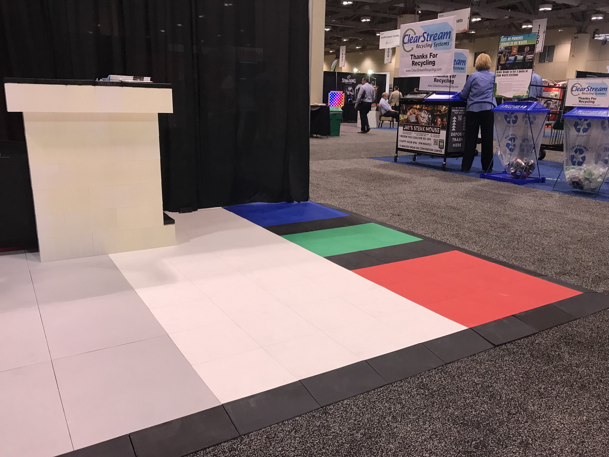 All EverBlock Flooring tiles connect with each other seamlessly.