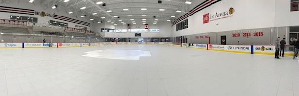 Ice arena flooring system