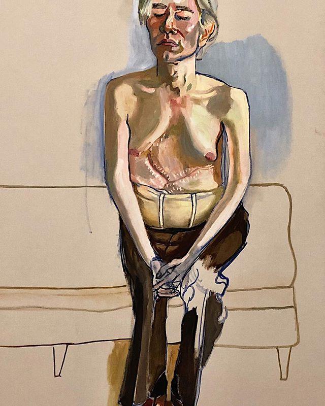 Vulnerability rarely glimpsed #AliceNeel / Andy Warhol 1970 @whitneymuseum . . . #measureoftheman #powerofart #portrait #bridestrippedbare #artadvisor #artadvisory #whitneymuseum #andywarhol