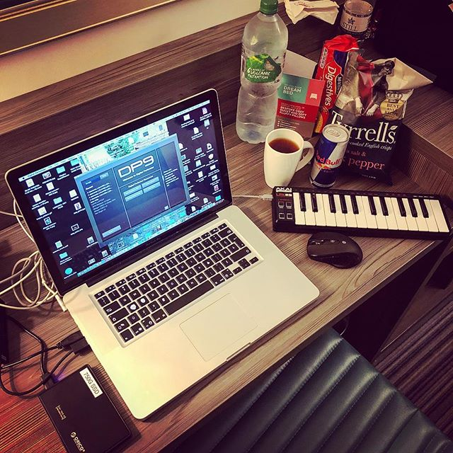 Everything is #ready for some #latenight #composing #session, thanks to the #neighbouring #petrolstation.