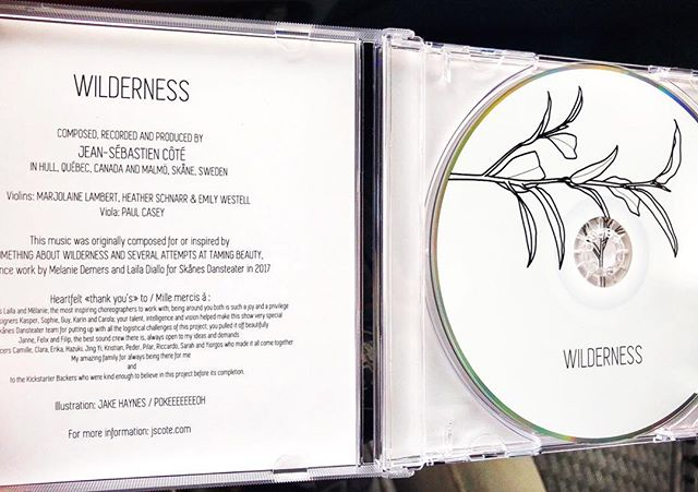Shit got real. VERY exciting to see your music in physical form. #champagne #oldschool #cd #album #wilderness @skanesdansteater #somethingaboutwilderness @marjolainelambert @heather.schnarr @paulellio @maydaydanse