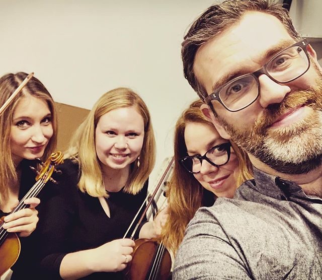 Who's got the coolest and best three violinists in town for his little show? ME!  #notworthy #wilderness #albumlaunch #dreamteam #stolenfromnaco #violins #albumlaunch #launchparty #somethingaboutwilderness @skanesdansteater