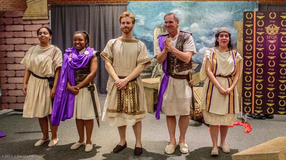 Julius Caesar cast, Shakespeare Festival St. Louis Education Tour 2017