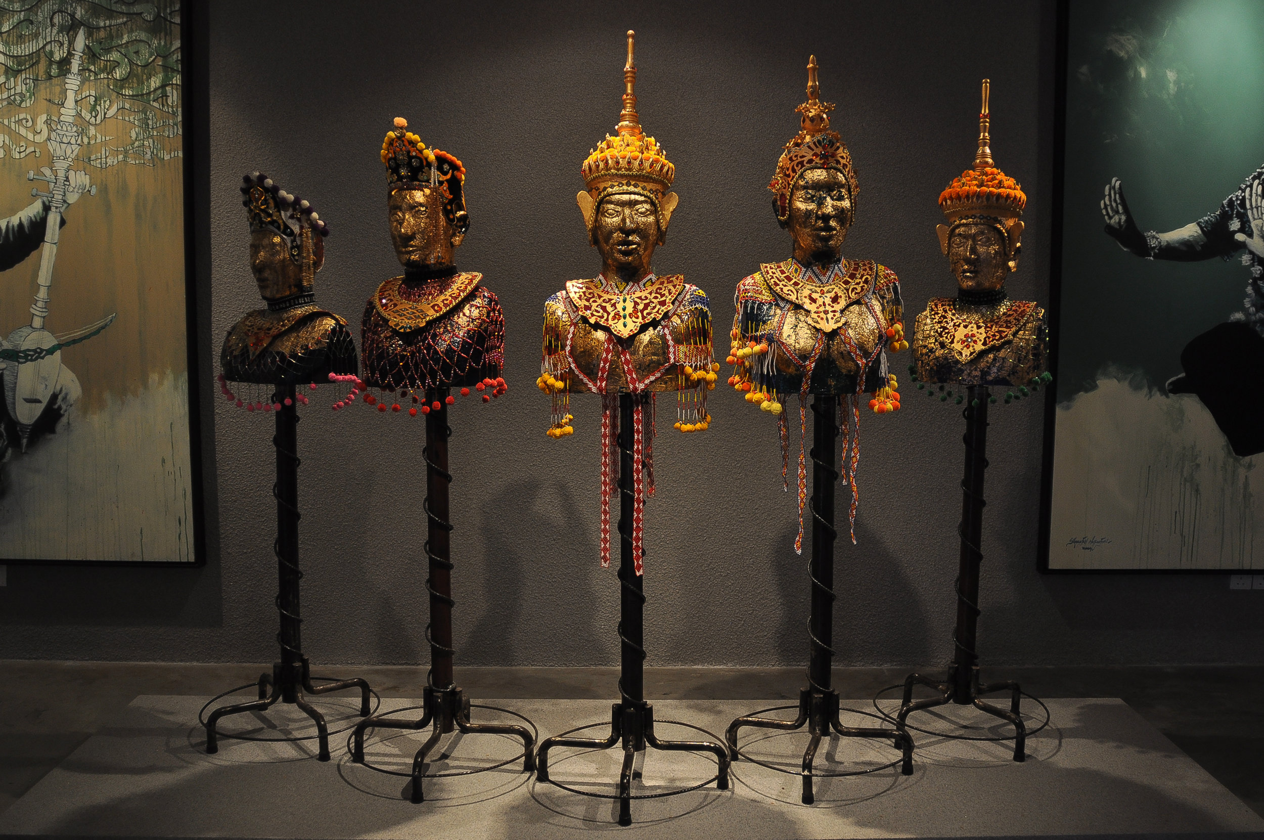 Arts & Culture of the East Coast Gallery: Headdresses of the Mak Yong dancers and shamans of Kelantan (northeast Malaysia)