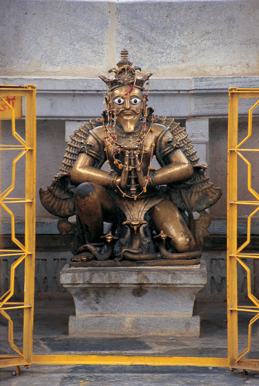 Garuda is famed for his supernatural powers, invulnerability (posseses mystic power against the effects of poison), and creative energy. Photo:Rajasthan, India