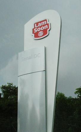 Pylon sign for Senai DC