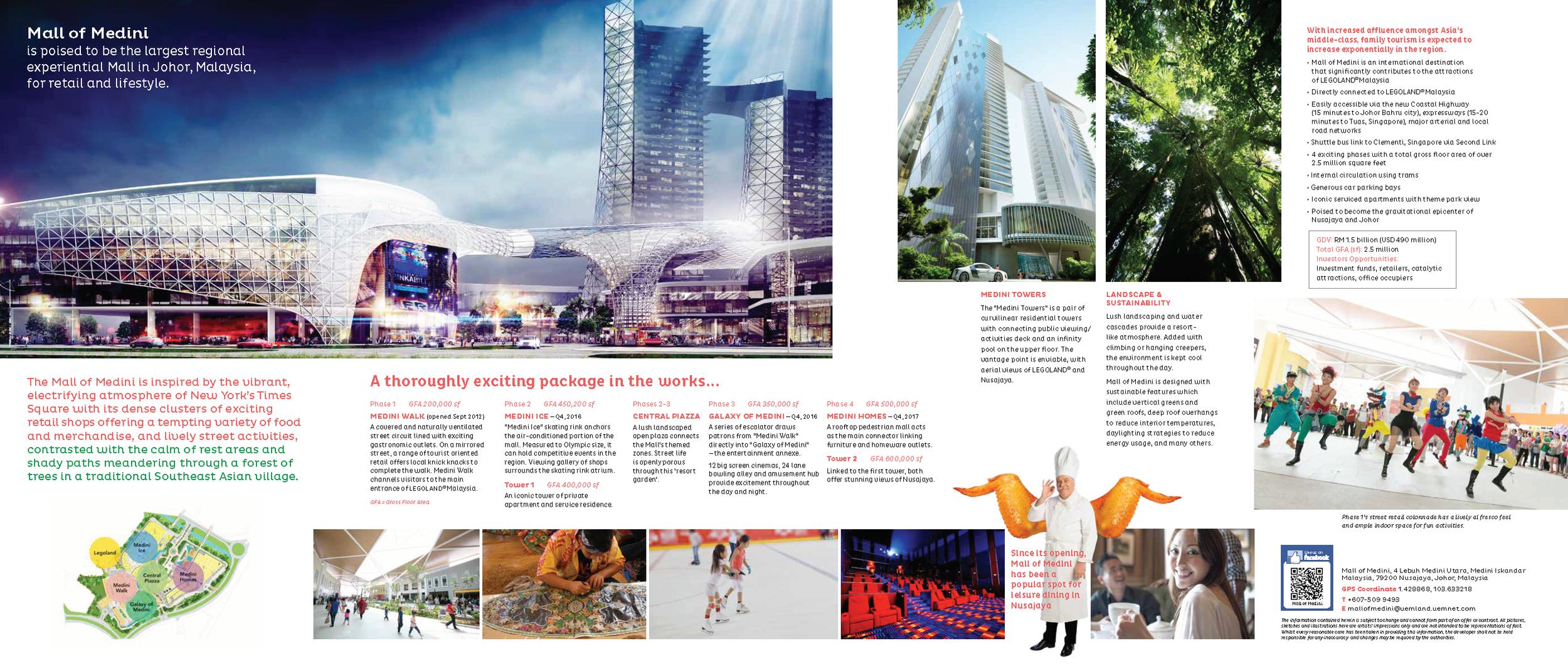 Mall of Medini promotional leaflet.