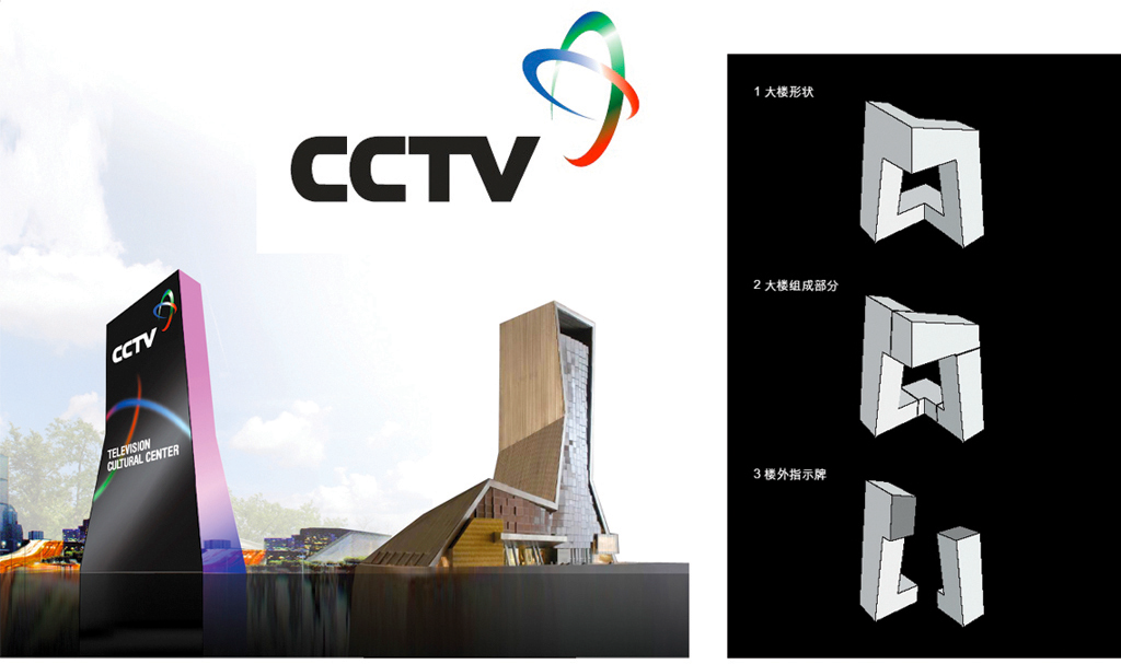 CCTV Beijing / Wayfinding, Signage and Facade Animation