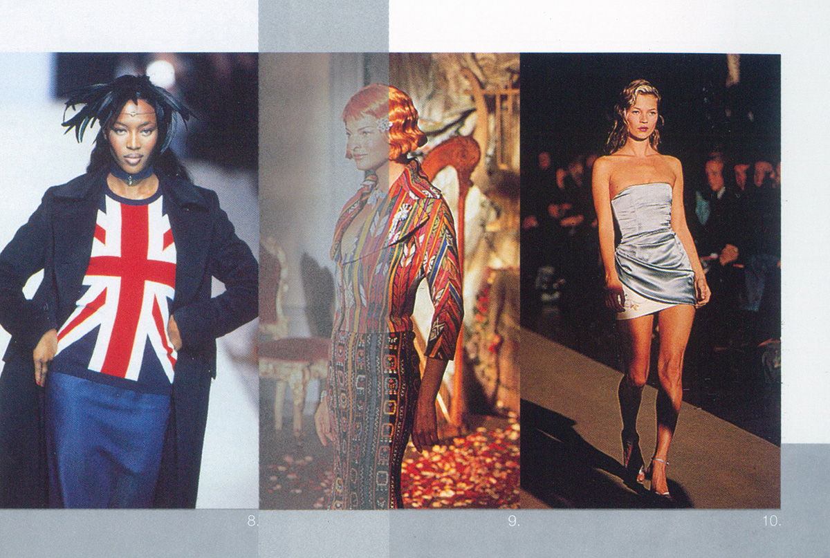 During the conservative rule of Margaret Thatcher's Britain in the 80s, the use of patriotic symbols in art and culture—such as the Union Jack and the RAF roundel—typically carried a strong sentiment of irony and sometimes, derision. It was Tony Blair's  Cool Britannia , with its giddy and carefree optimism, that incited a change, bringing on a playfully patriotic British renaissance. As a result,Union Jacks began to appear on fashion catwalks as a fresh and fashionable symbol. Our designers, too, made frequent use of the Union Jack symbol as it was no longer a stigma in the UK culture.  Images of models from  powerhouse::uk  adapted for  uk.today@klcc.