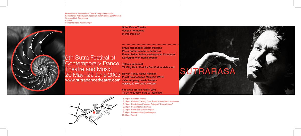 Invitation card for the 6th Sutra Festival,  Sutrarasa (open).