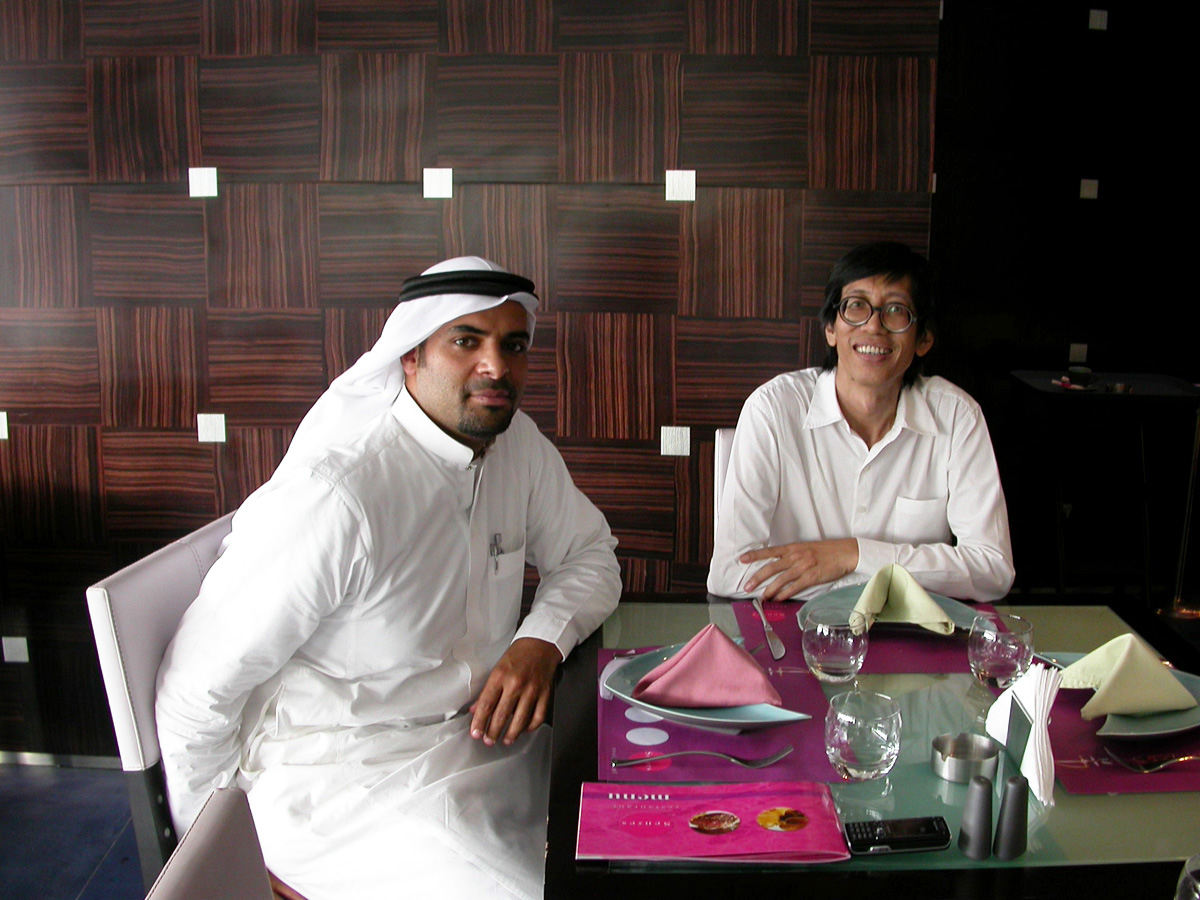 Reda and William in Jeddah