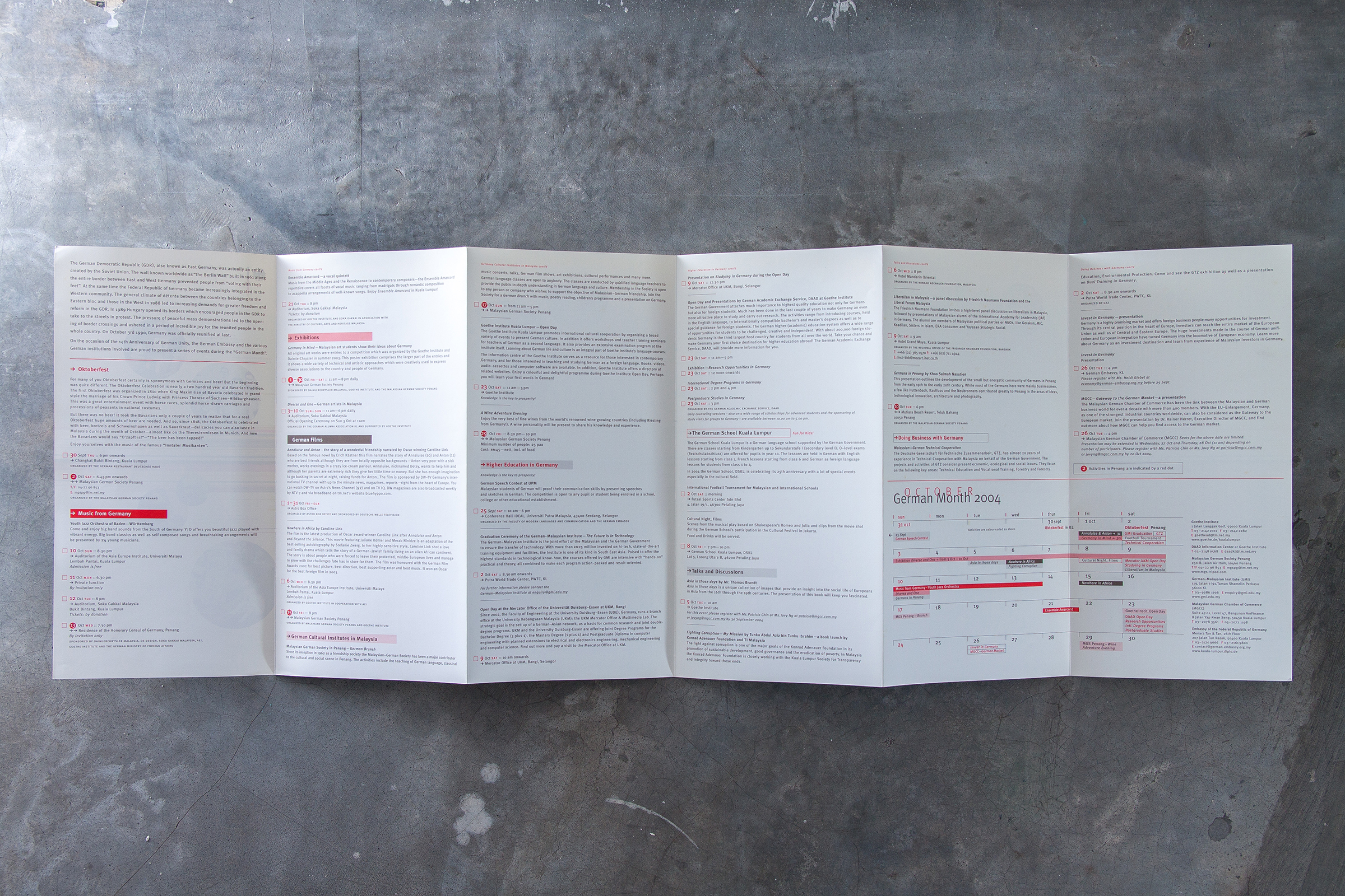 The programme—for the record.