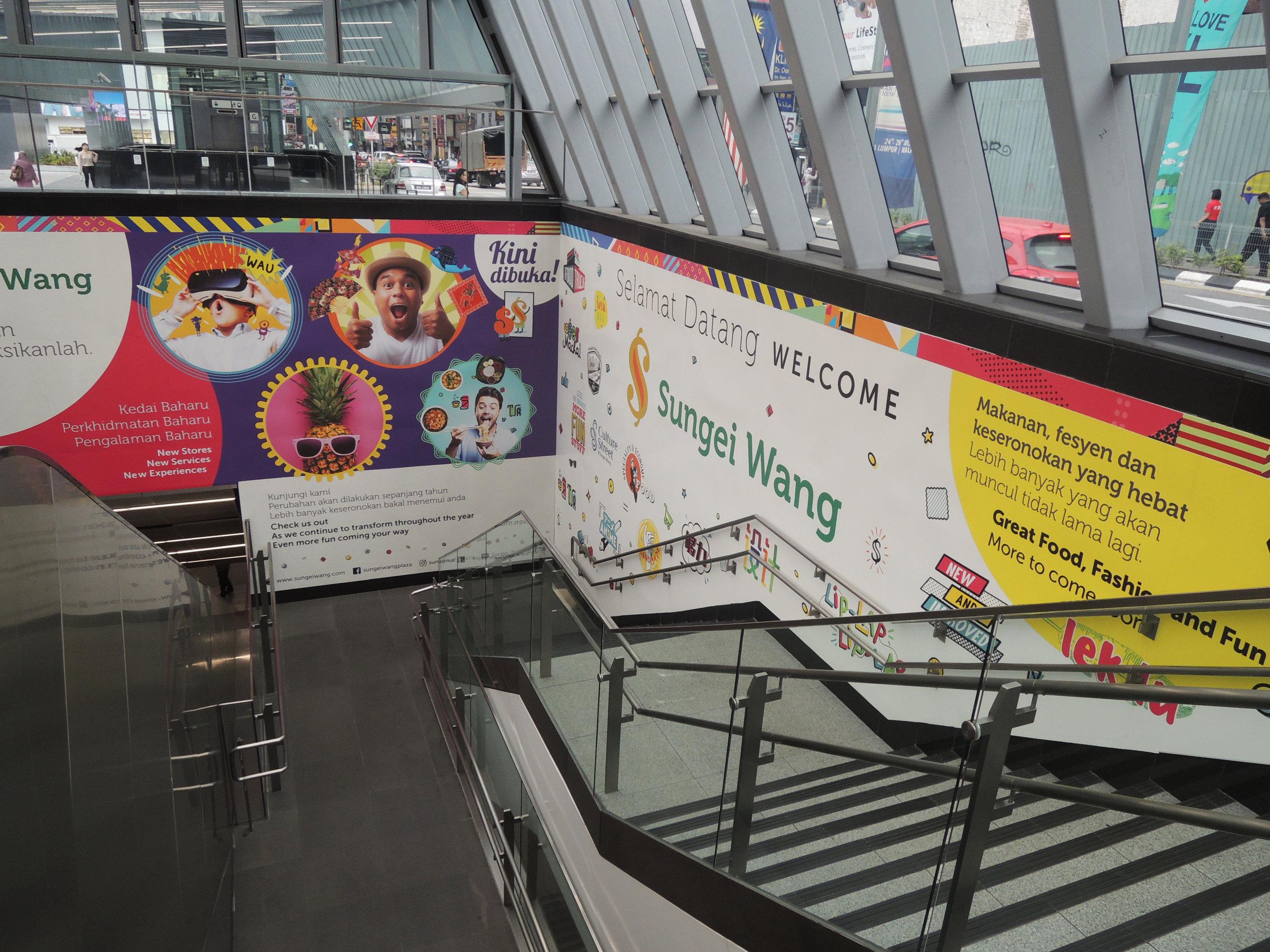 The Bukit Bintang MRT station, adjacent to Sungei Wang