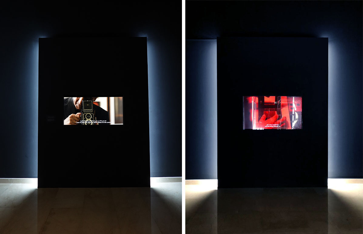 Two videos were produced for the exhibition. Left // Ramesh's Journey. Right // The Darkroom Process.