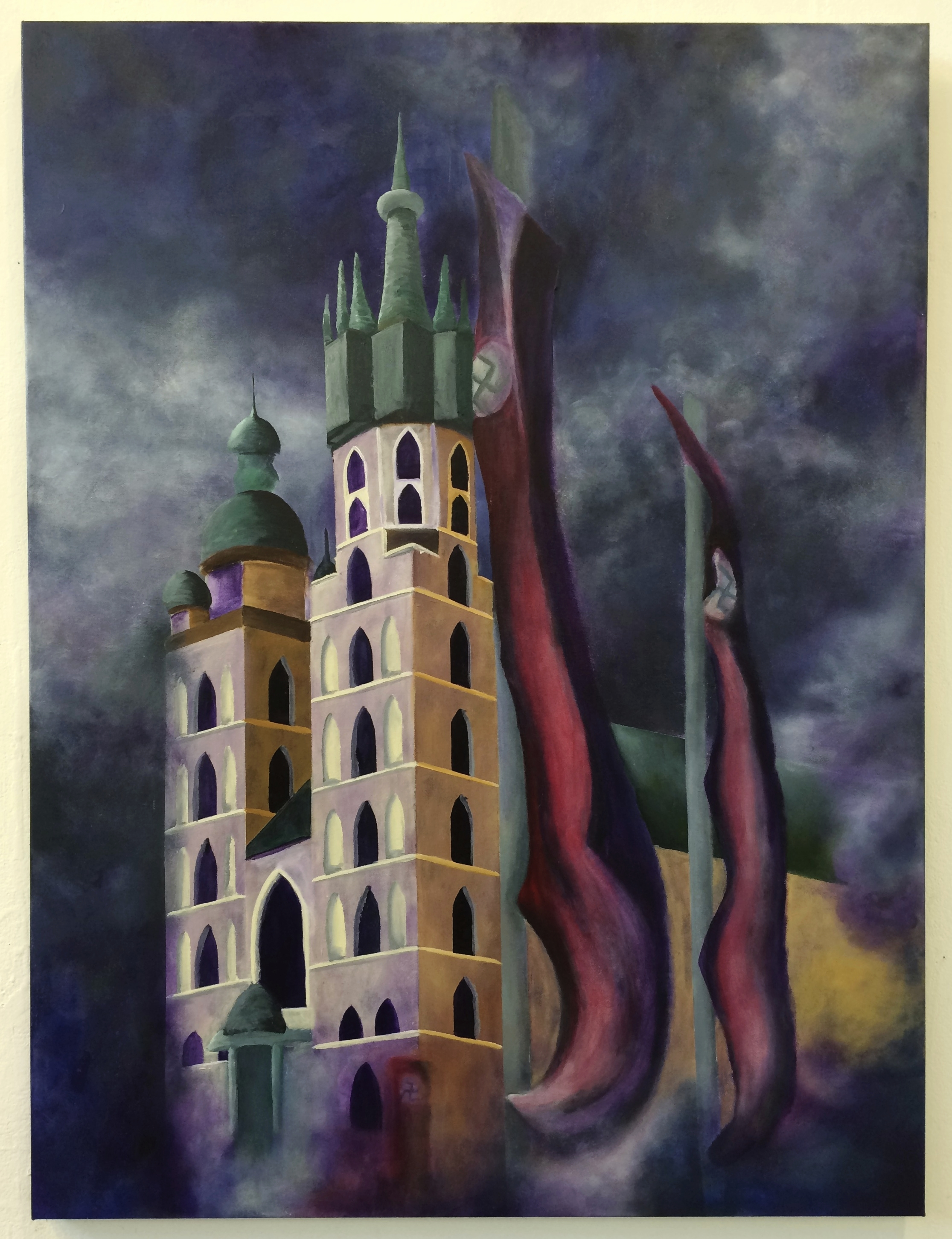 Hitler's Favourite City     Oil and Acrylic on Canvas