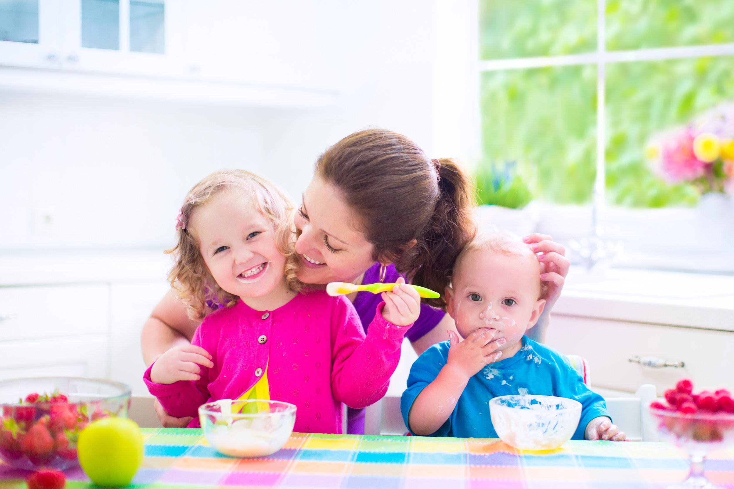 happy healthy child eating Learn to Eat. Love to Eat.