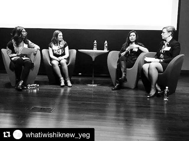 Thank you @whatiwishiknew_yeg for having me on your Side Hustle: Levelling Up Your Career panel!! It was such a blast being up there with fellow panelists @jennamarynowski and @meganbertagnolli. Of course keeping us all on track, the lovely @eveasiedu!! ............…………… ———————————.......................... #yeg #yeggers #yegentrepreneur #yegmusic #admin #whatiwishiknew #magicmoments #conversationstarters #career #careerdevelopment #sidehustle #thehustleisreal #byefelicia #hellovaleeshia