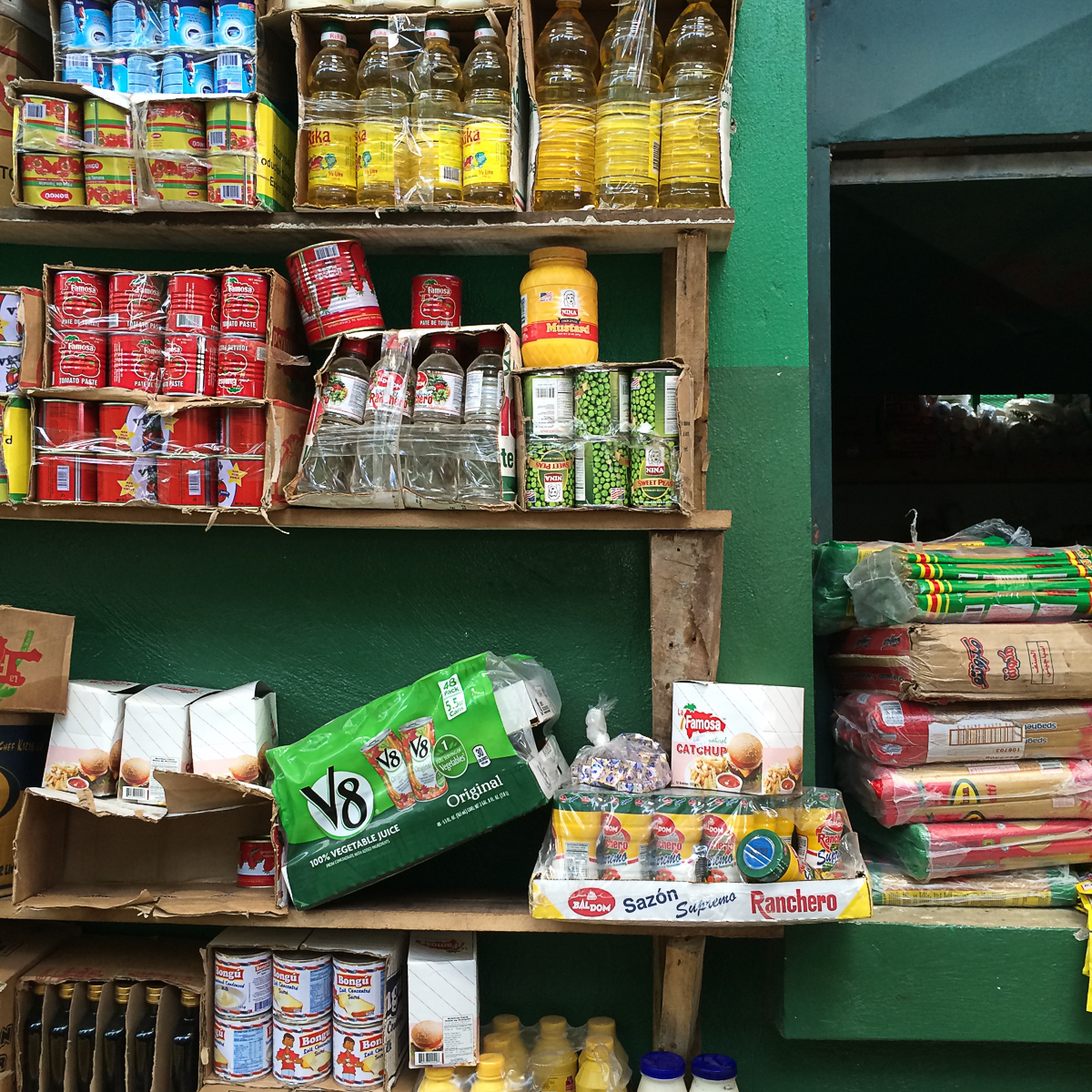 Coulda had a V8. And other supplies. Jacmel, Haiti.