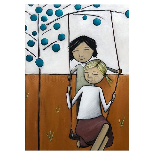 The Swing - The Simple Life Series revisited #art #artist #contemporaryart #artformywalls #australianartist #onlineartforsale #statementartworks #artcollective #artdiscover #artfinder #artlovers #bluethumb #bluethumbartist #myart #inspirational #julierobertson