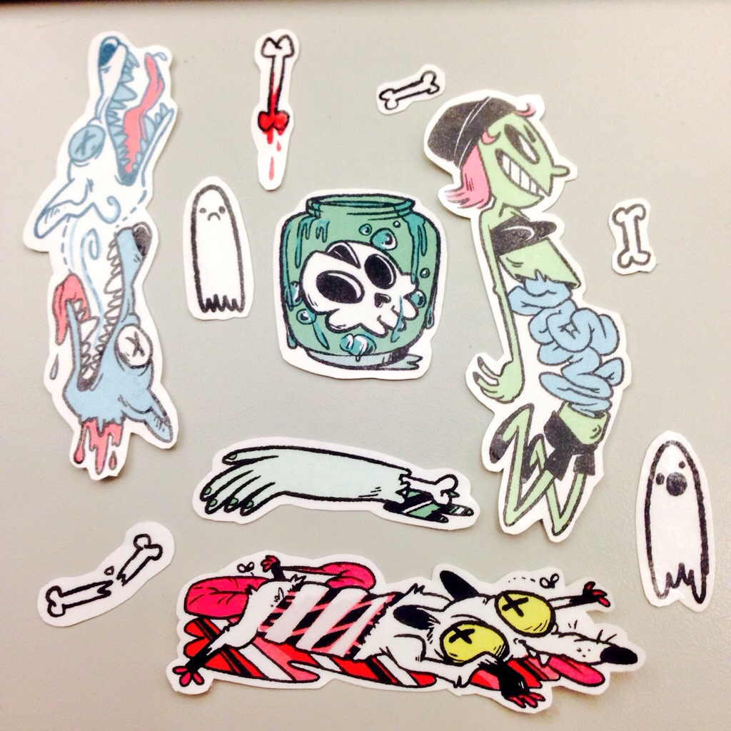 Ghoulish sticker pack