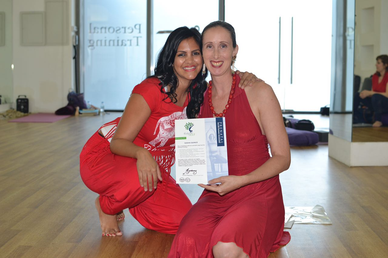 - Your Trainers:Sasha Quince & Joanne Arganaraz have over two decades of experience in instructing both Yoga & Prenatal Yoga in the UAE. Combined they have used yoga practices in four pregnancies with very different births. They are excited to combine their skill sets for Abu Dhabi's 4th Pregnancy Yoga Teacher Training.