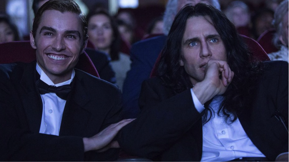 Dave Franco left and James Franco right attend the premiere of The Room in The Disaster Artist.