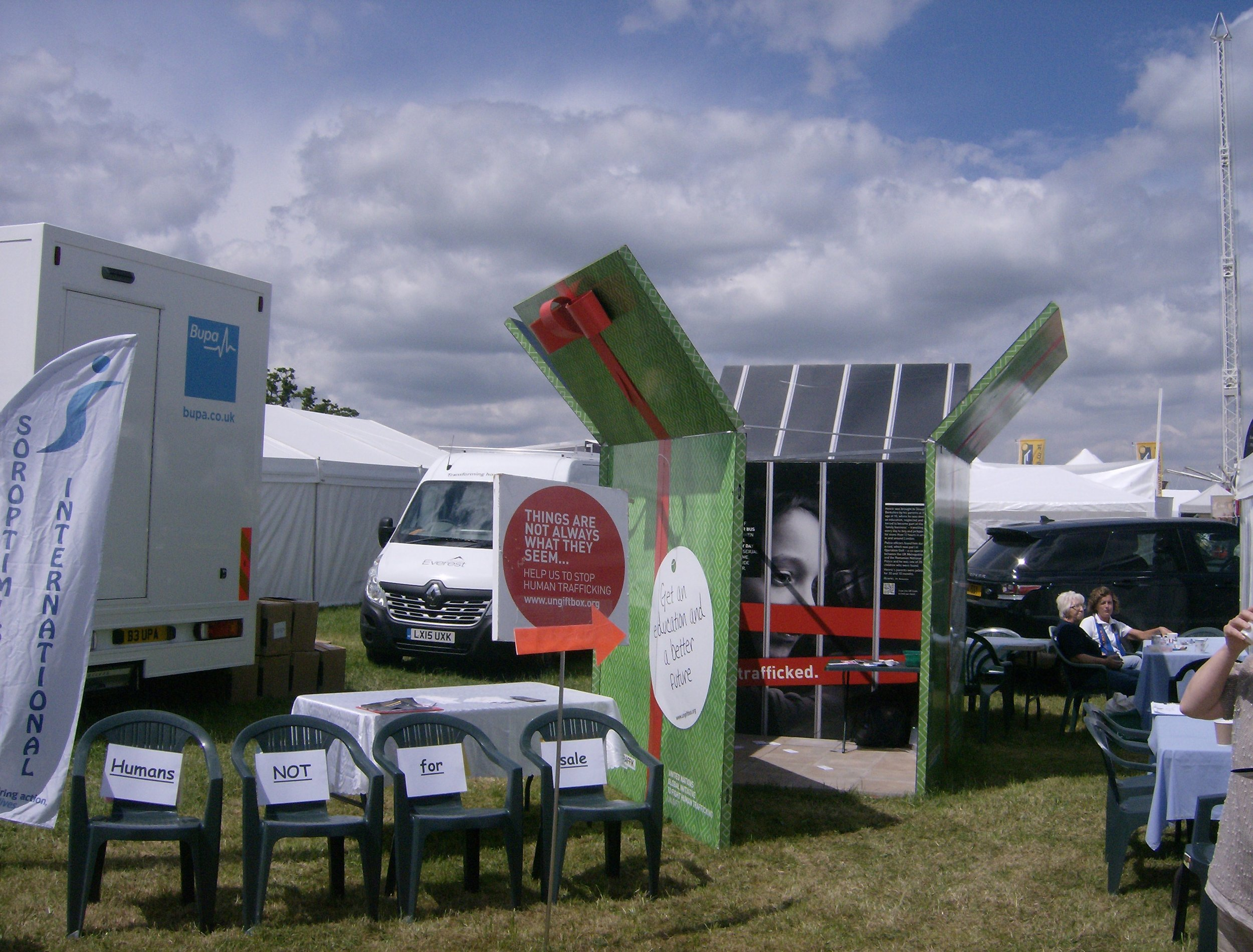 The group hosted the Stop the Traffik Gift Box at the County Show