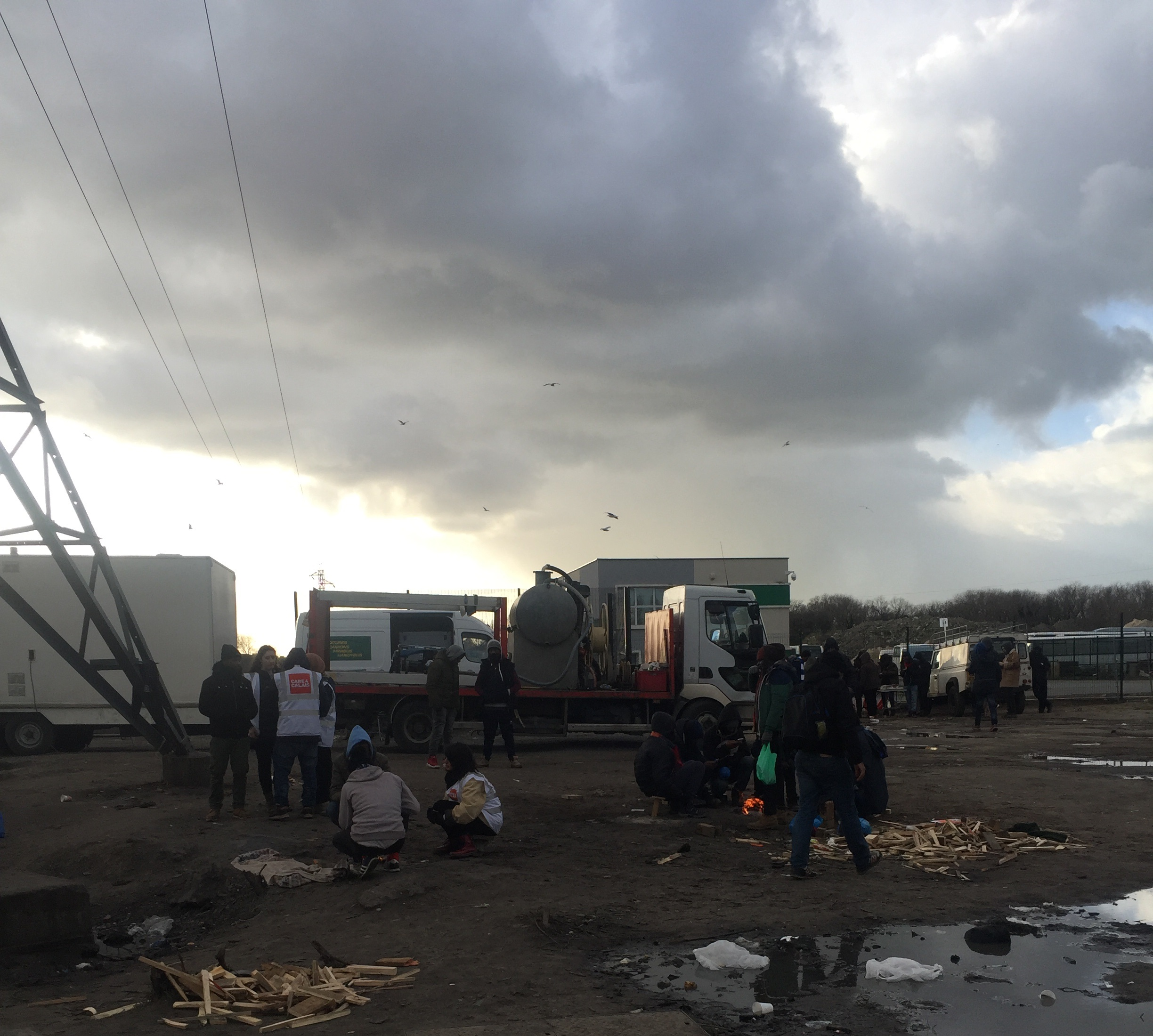 Visiting the refugee camps in Calais