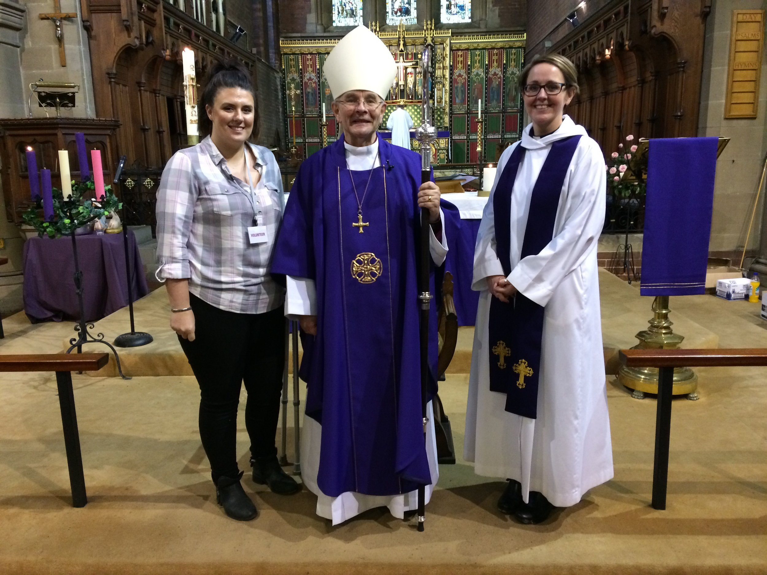 Revd Gemma with the Bishop