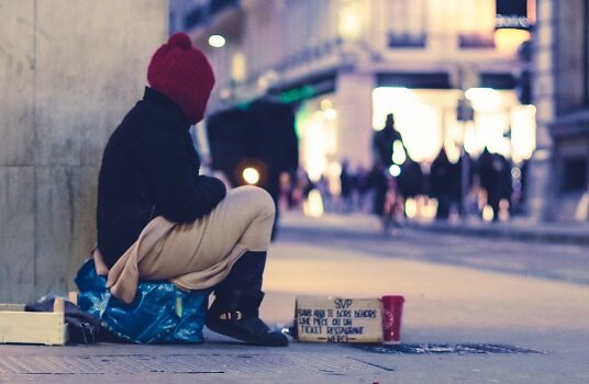 Homeless people are at huge risk of modern slavery due to their vulnerability.