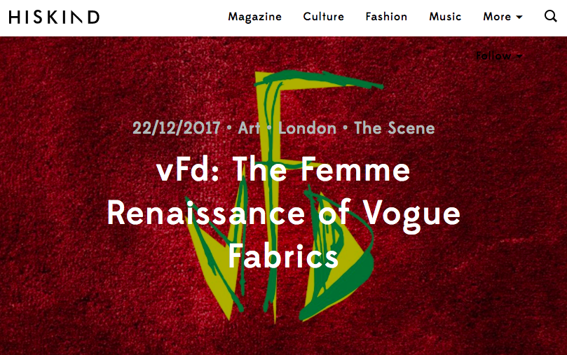 'Having played home to some of most playful, subversively creative and shining creatures of London's LGBT scene, Vogue Fabrics Dalston has plans to rock the existing club landscape with a relaunch. January 2018 will see Vogue Fabrics reborn as vFd, an intentionally femme-centred nightlife space which will also host their first ever regular in-house night, Femmetopia...