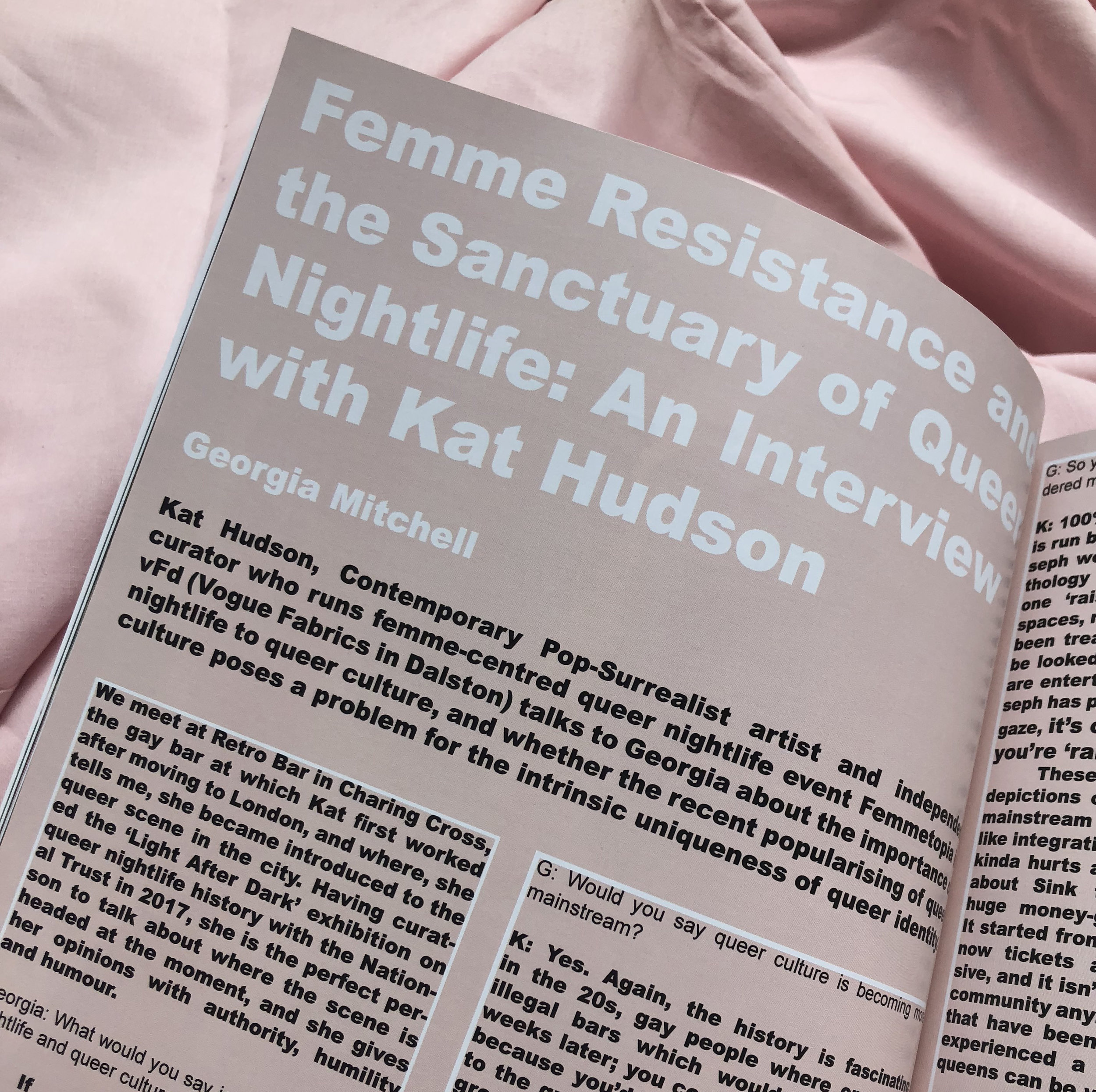 Kat talks to Georgia Mitchell from Fem Zine about queer club culture and 'femme resistance'. Get your copy of Fem II 'Night Life' here:  femzinelondon.com   The zine also features Travis Alabanza, Liv Wynter and many more!  'There are a lot of LGBTQ people who want to integrate with heteronormative society, and a lot of us who really, really don't. There is a difference between acceptance and integration. There are people who don't fit into heteronormative ideas and don't want to
