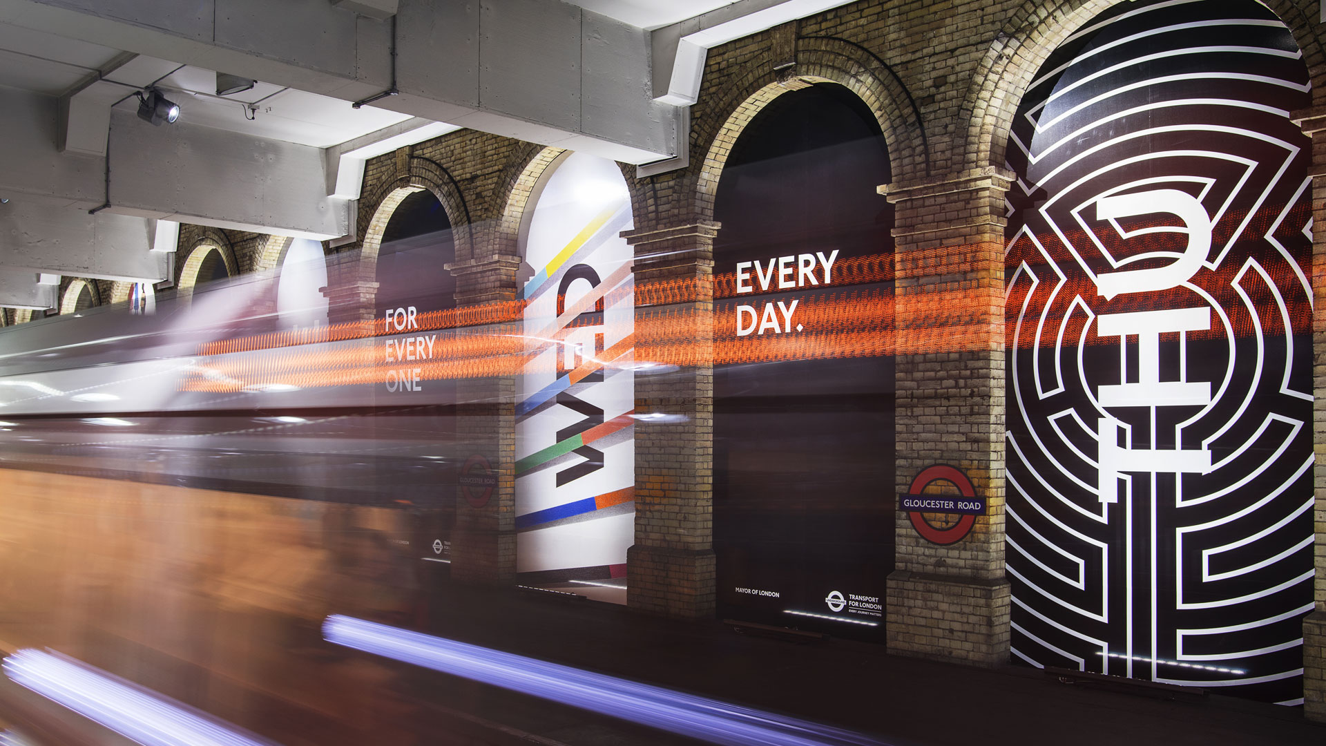 Art on the Underground: 15 Years brand campaign