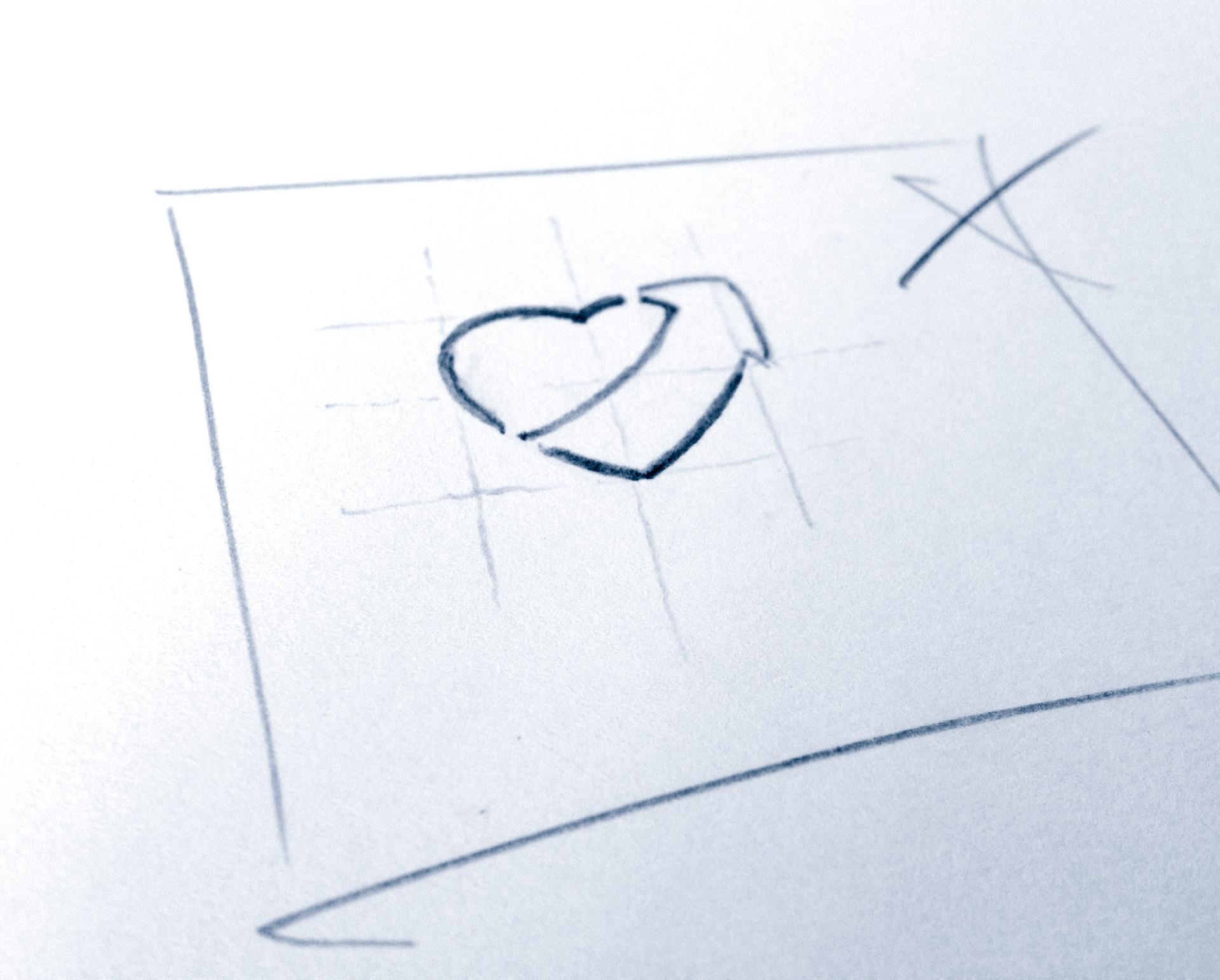 Entwurfsskizze Bildmarke »Stiftung Kinder haben Vorfahrt«