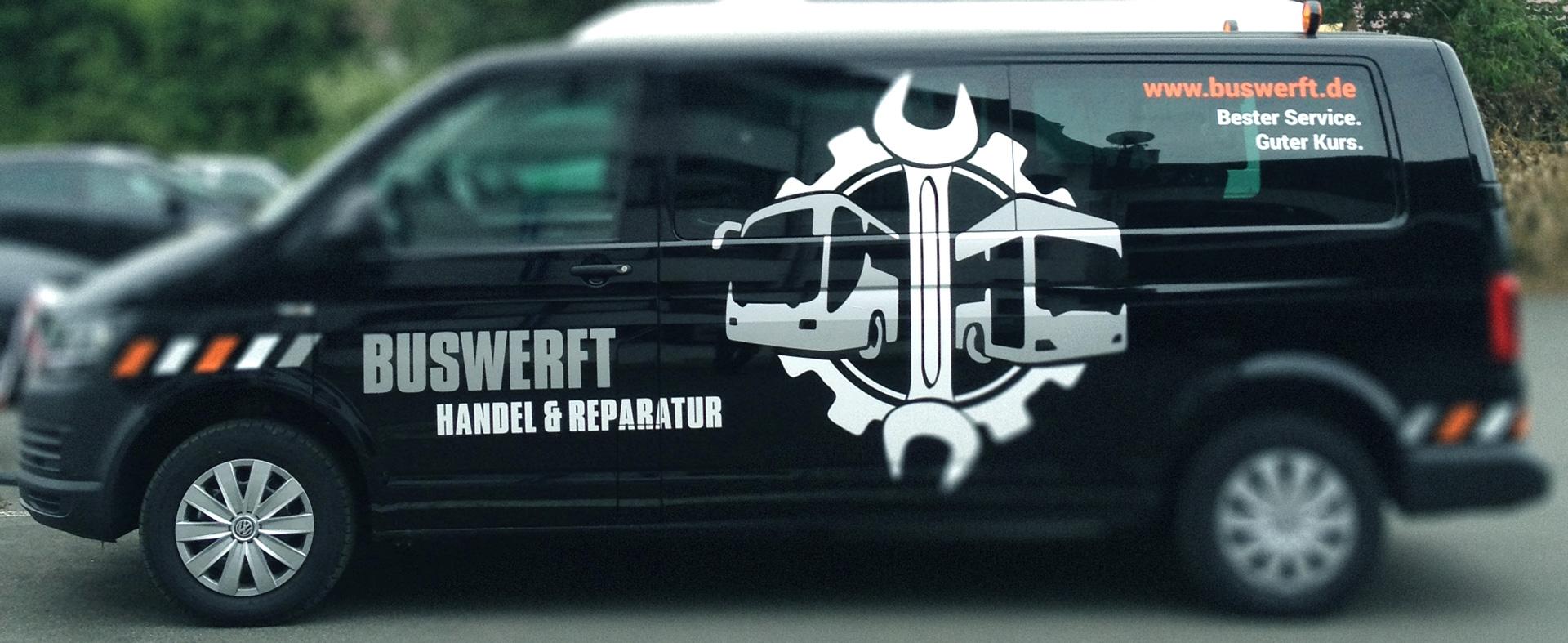 Fahrzeugbeschriftung »Buswerft«