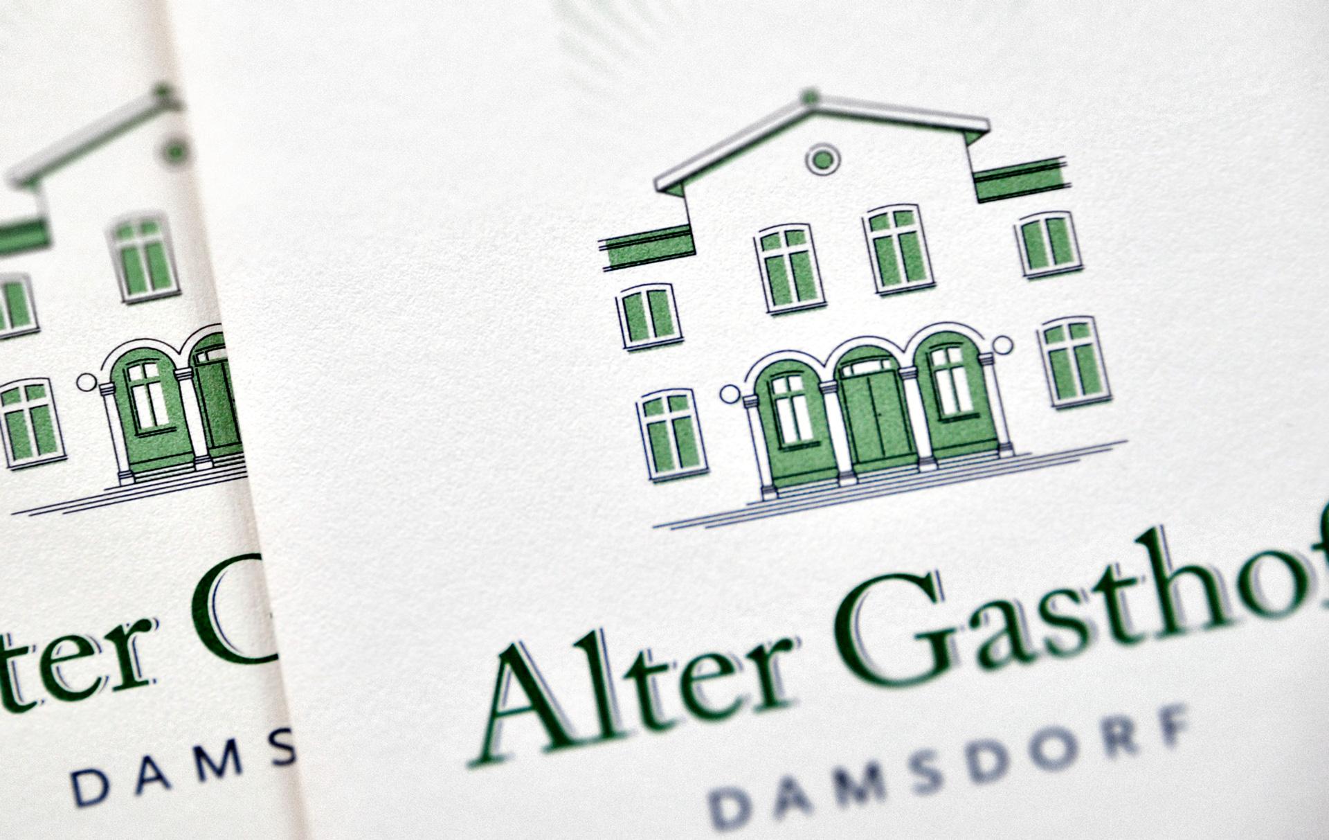 Alter Gasthof Damsdorf, Wort-Bildmarke