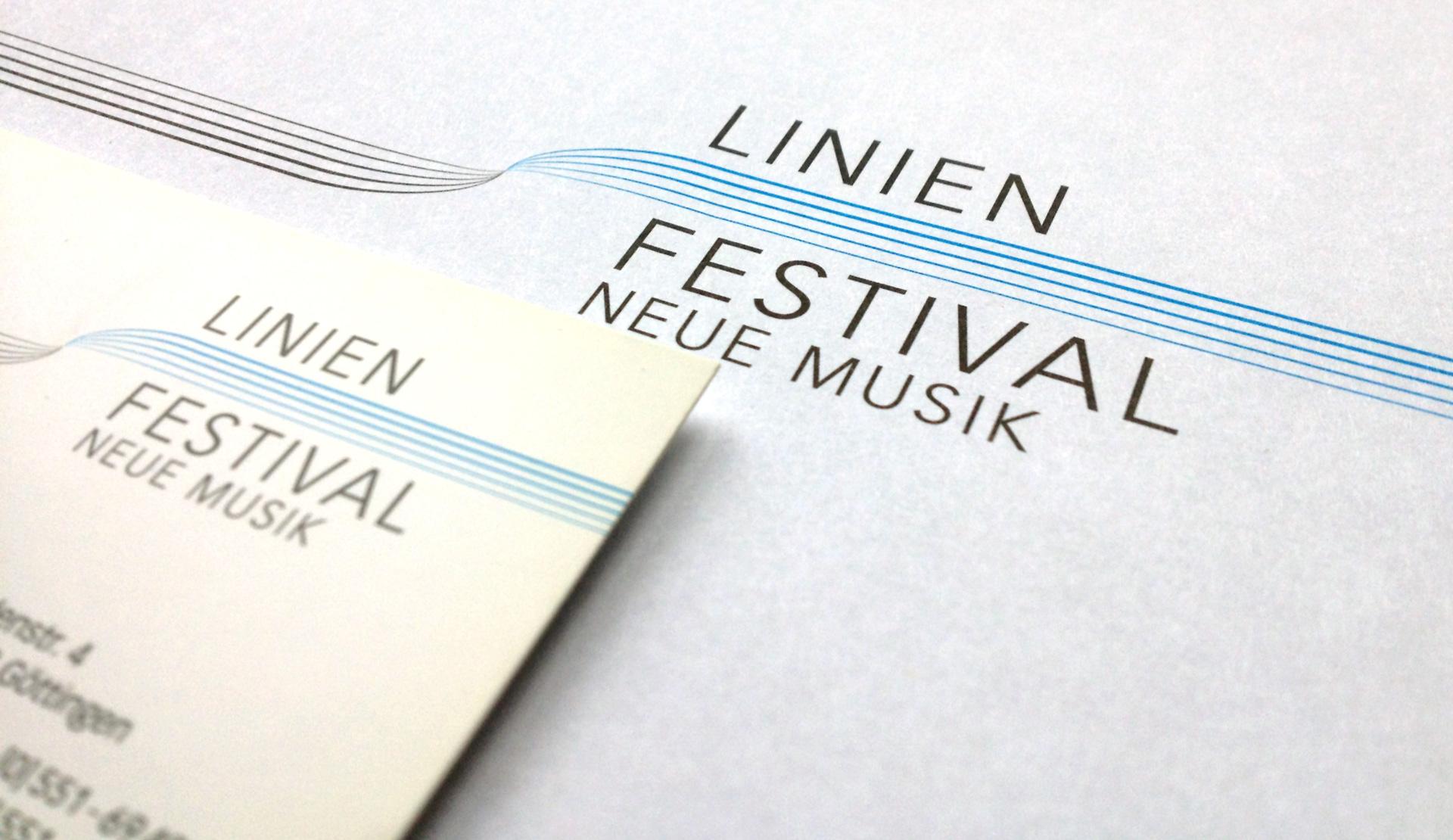 Linien Festival Göttingen, Wort-Bildmarke und Geschäftspapiere