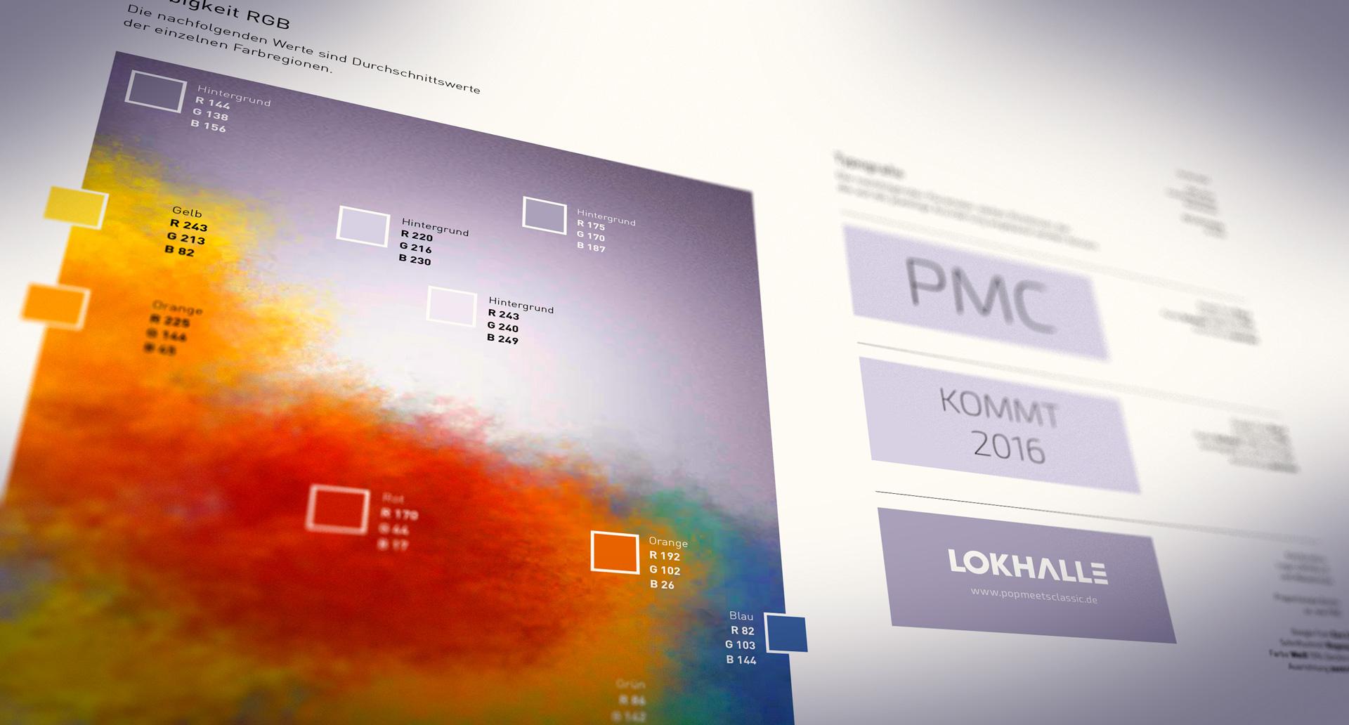 Corporate-Design-Vorgaben, Typografie und Farbwerte