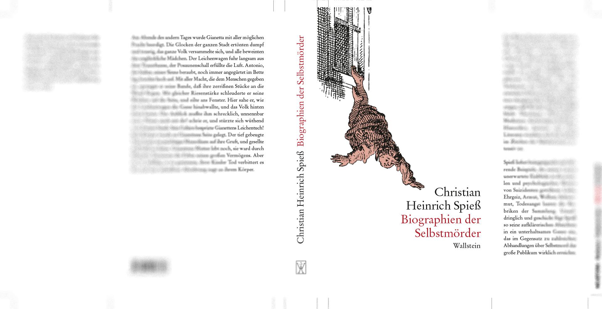 Christian Heinrich Spieß - »Biographien der Selbstmörder«, Schutzumschlaggestaltung