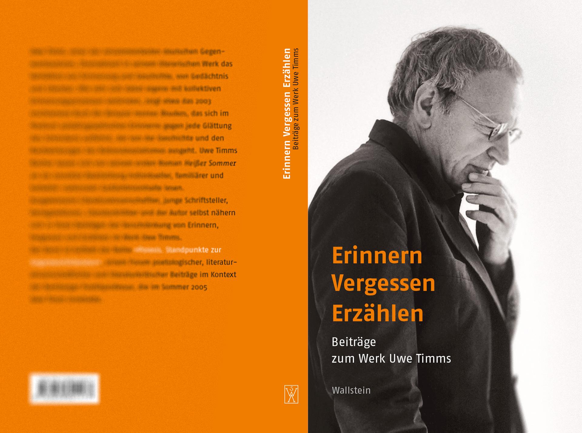 Reihenkonzept »Poiesis. Standpunkte zur Gegenwartsliteratur« - Beiträge zum Werk Uwe Timms, Umschlaggestaltung