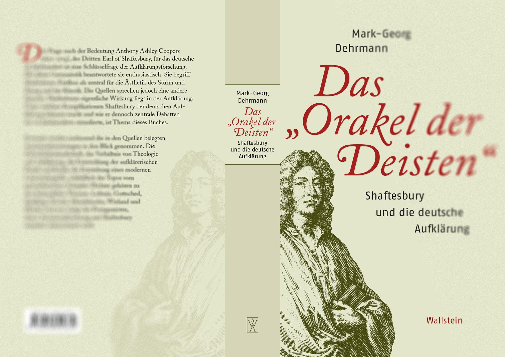 Mark-Georg Dehrmann - »Das ›Orakel der Deisten‹«, Umschlaggestaltung