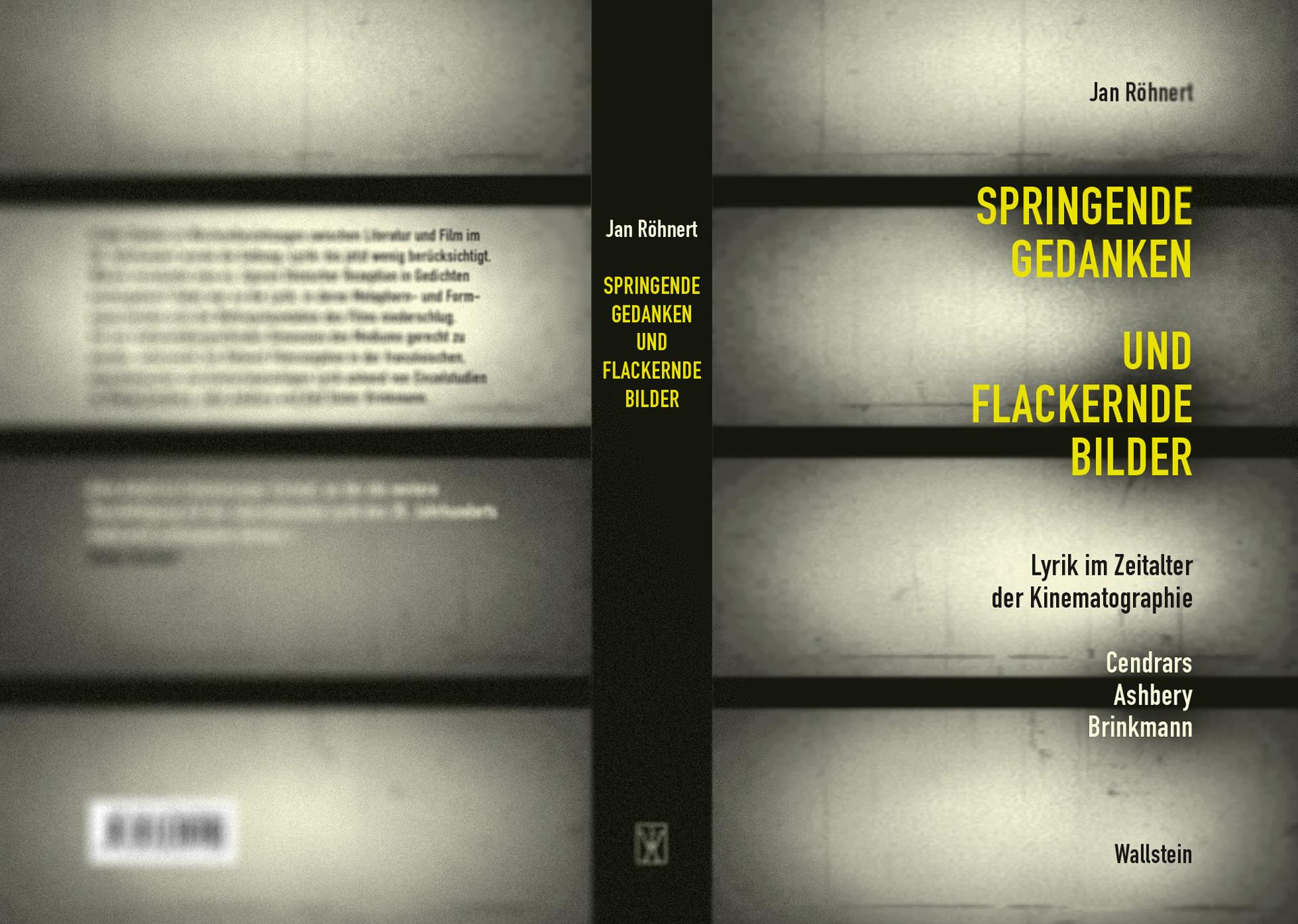 Jan Röhnert - »Springende Gedanken und flackernde Lichter«, Umschlaggestaltung