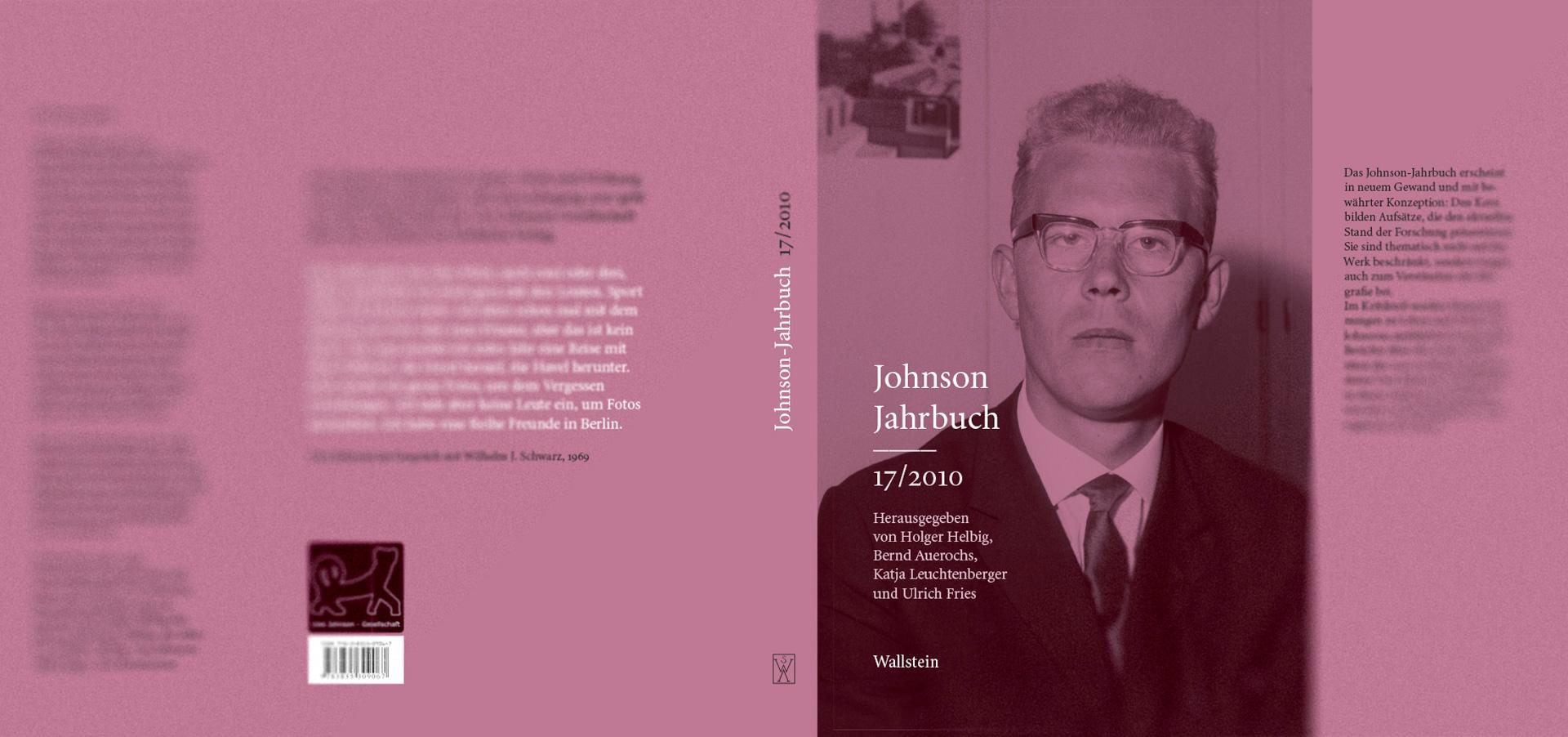 Reihenkonzept »Johnson-Jahrbuch« - Band 17/2010, Schutzumschlaggestaltung