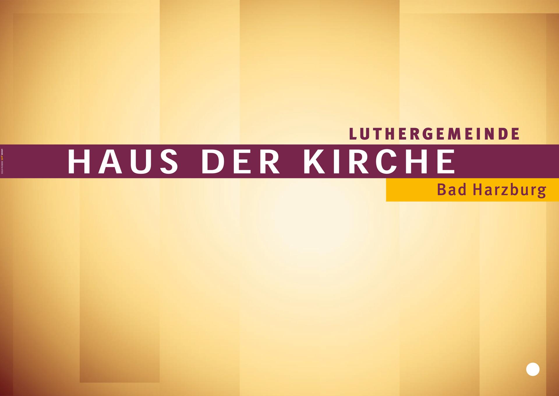 »Haus der Kirche« Bad Harzburg, Veranstaltungsplakat, Vordruck