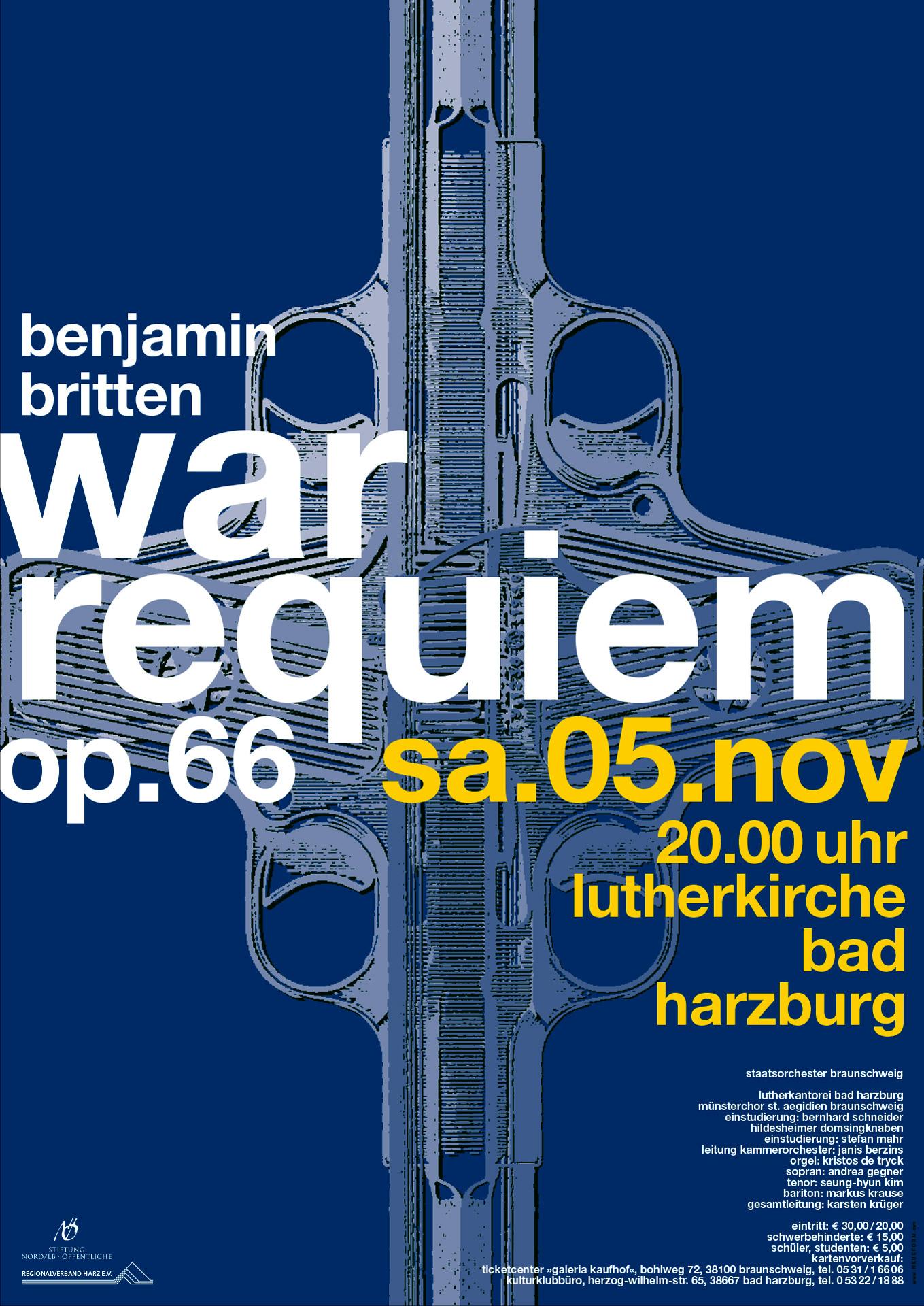 »war requiem« Bad Harzburg, Veranstaltungsplakat