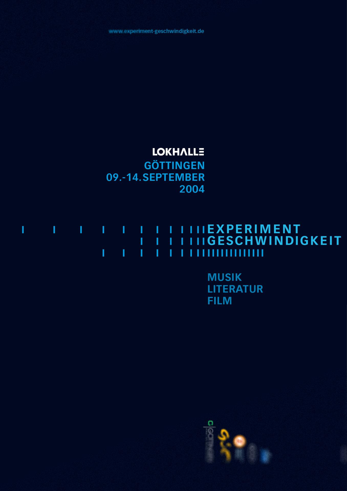 »Experiment Geschwindigkeit« Göttingen, Veranstaltungsplakat